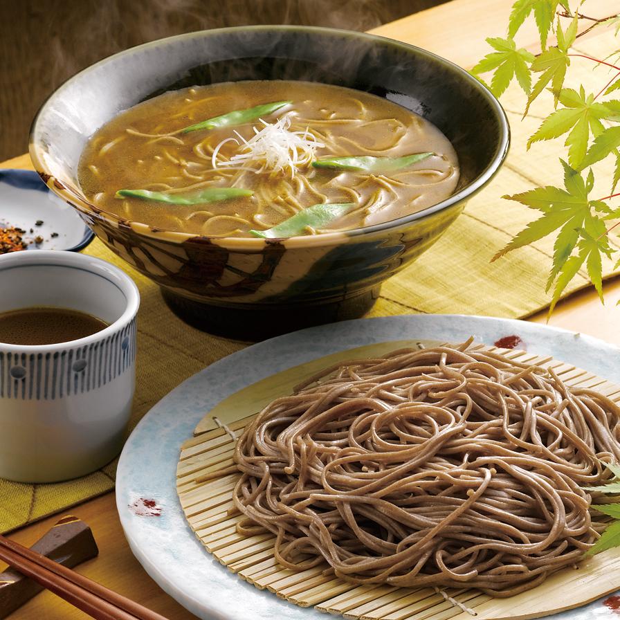 【鳥取県】カレー大山そば 〈生麺〉200g×9袋、カレーだし18袋