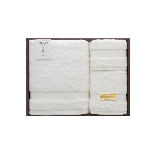 【愛媛県】今治オーガニックコットンタオルセット(白帆) バスタオル約70×140cm