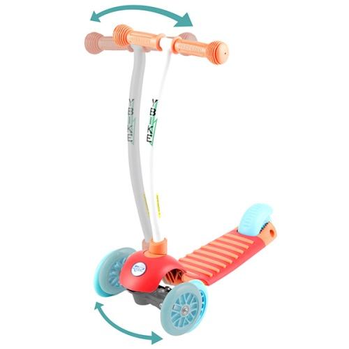 【YBike】CRUZE 3輪キックスクーター 約67×30×高さ56cm オレンジ