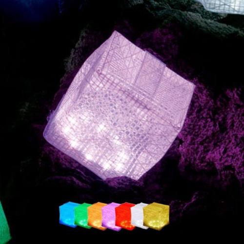 折りたたみ式ソーラーランタン「キャリー・ザ・サン」レインボー ミディアム3個セット