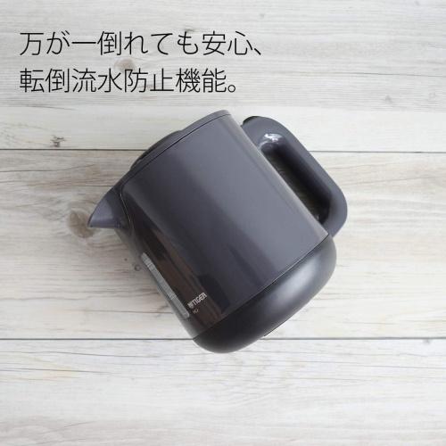 【タイガー】蒸気レス電気ケトル ブラック(容量800ml)