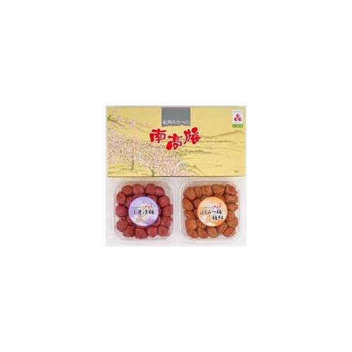 【和歌山県】紀州みなべの南高梅 梅しそ漬梅干450g(塩分13%)、はちみつ漬梅干450g(塩分9%)