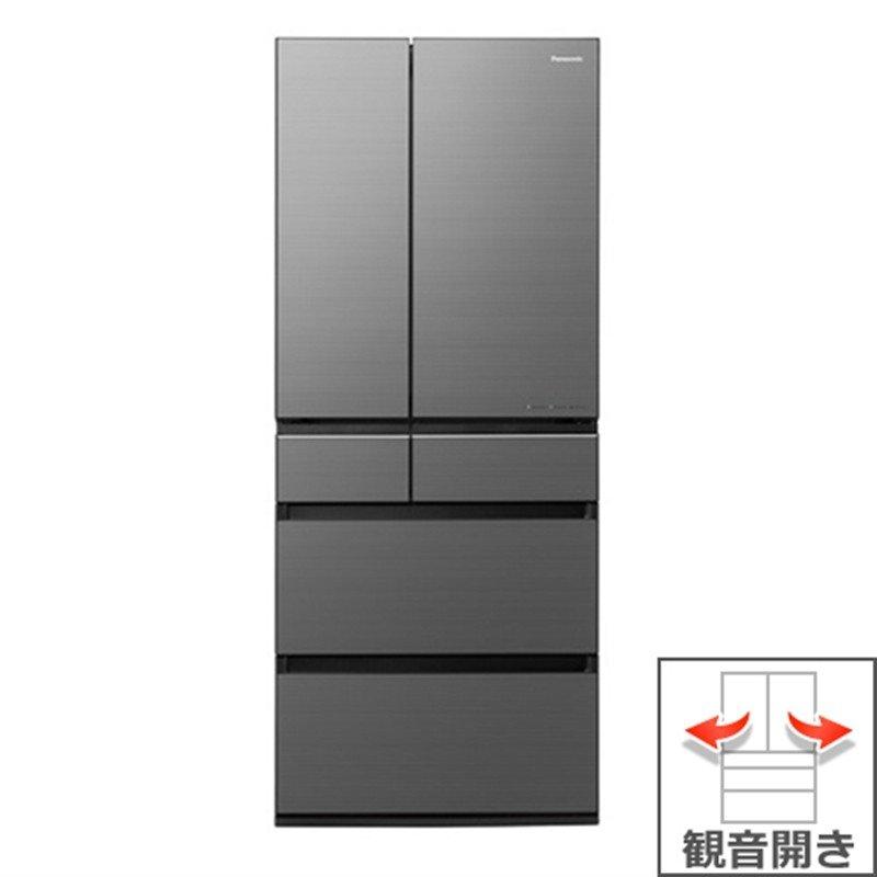 【パナソニック】650L パーシャル搭載冷蔵庫 NR-F655WPX-H ミスティスチールグレー