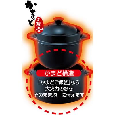 【クリヤマ】黒樂かまどご飯釜