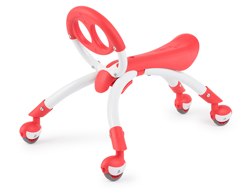 【YBike】PEWI ライドオンウォーカー 約52×42×高さ45.5cm、座面高さ27cm レッド