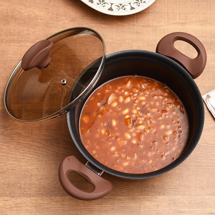 コージークック ツインコーティングシリーズ イタリアンショコラ 20cm 両手鍋