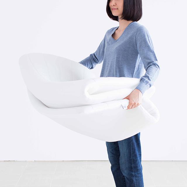 【エアウィーヴ】エアウィーヴ スマート035 シングル 幅約100 × 長さ約195 × 厚さ約4.5 cm ホワイト