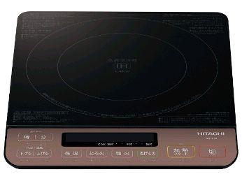 【日立】卓上IH調理器 約幅30.0×奥33.6×高さ5.5cm  ブラック