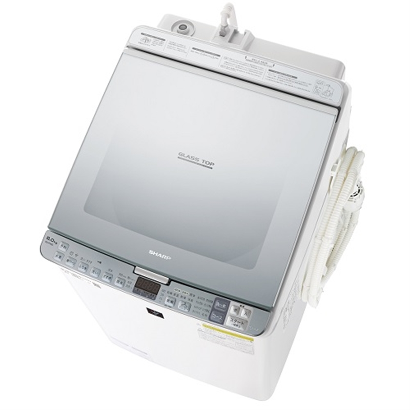 【シャープ】タテ型洗濯乾燥機 ES-PX8D-Sシルバー系