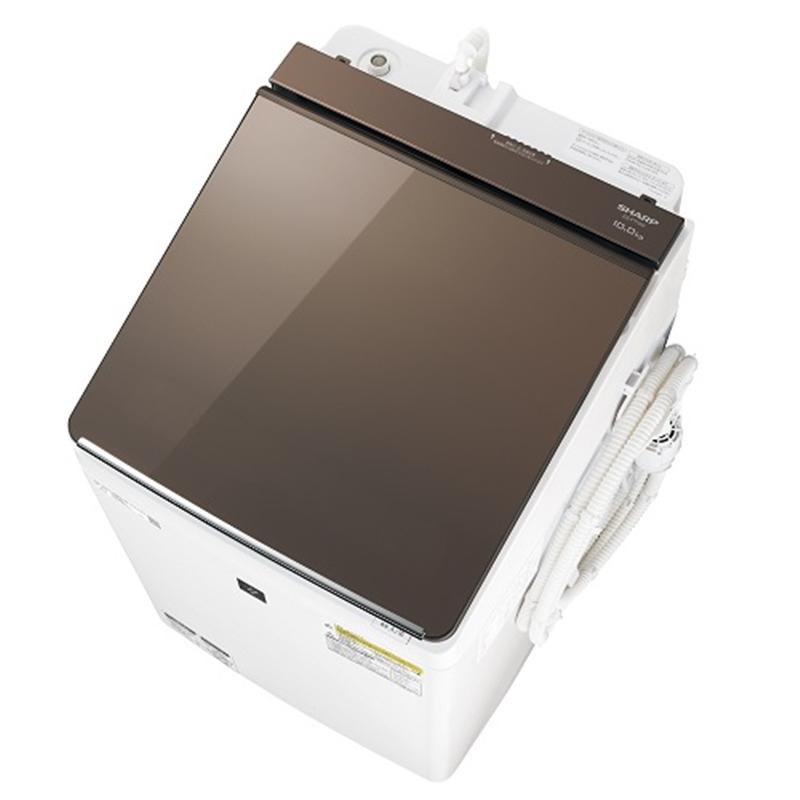 【シャープ】タテ型洗濯乾燥機 ES-PT10D-Tブラウン系