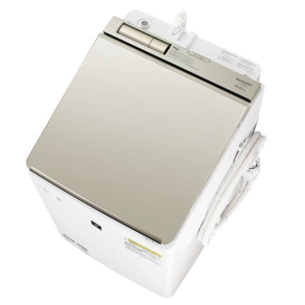 【シャープ】タテ型洗濯乾燥機 ES-PW8D-Nゴールド系