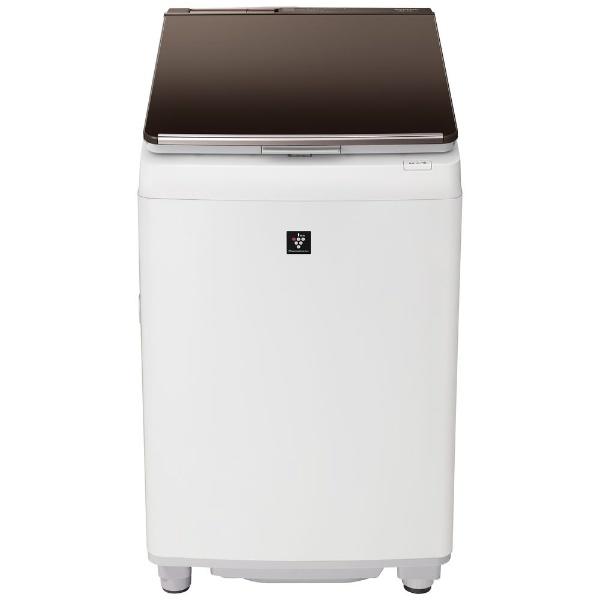 【シャープ】タテ型洗濯乾燥機 ES-PW10D-Tブラウン系