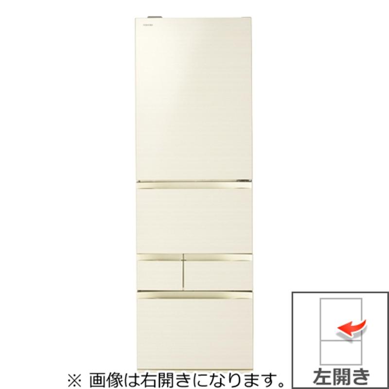 【東芝】501L 5ドア左開き冷蔵庫 GR-R500GWL-ZC ラピスアイボリー