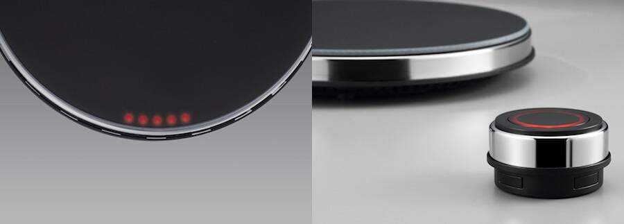 マインツ ホットトリベットの火力表示LEDとリモコン