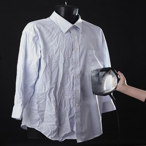 【高儀】衣類スチーマー(ブラック) 約幅8×奥21×高さ14cm