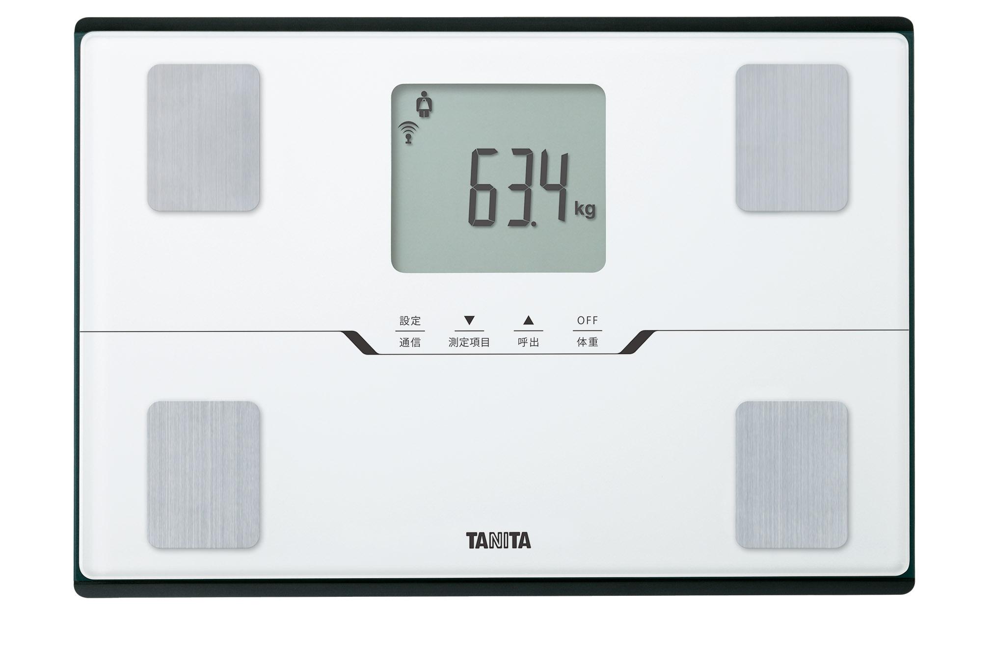 【タニタ】体組成計 スマートフォン アプリ対応(パールホワイト)