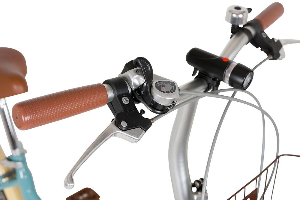 【KCD】24型低床フレーム折りたたみ自転車 シンプルスタイル ペアセット 使用時/約162×57×高さ107cm グレイブルー