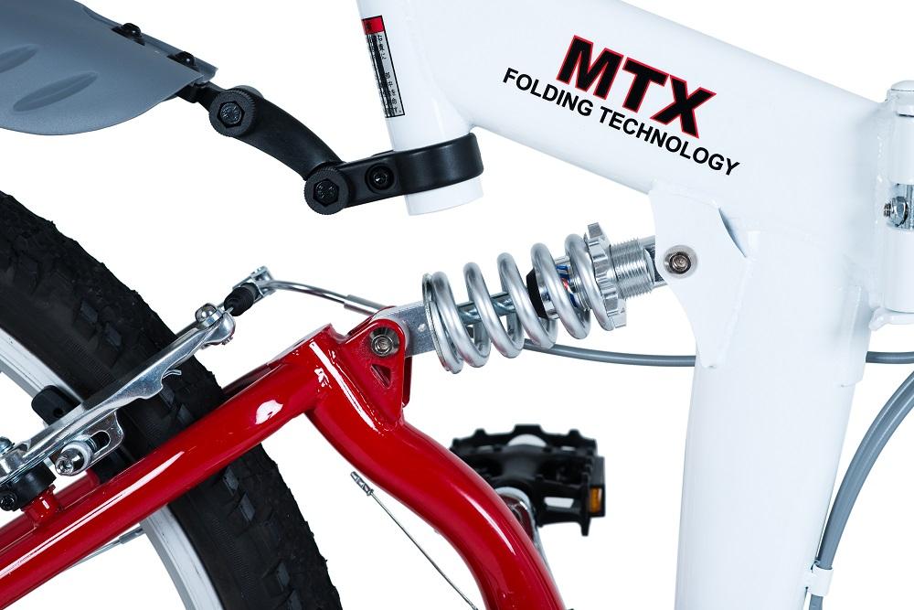 【KCD】26型折畳自転車 スウィツスポート LEDライトセット 使用時/約175×56.5×高さ100cm ホワイト×レッド