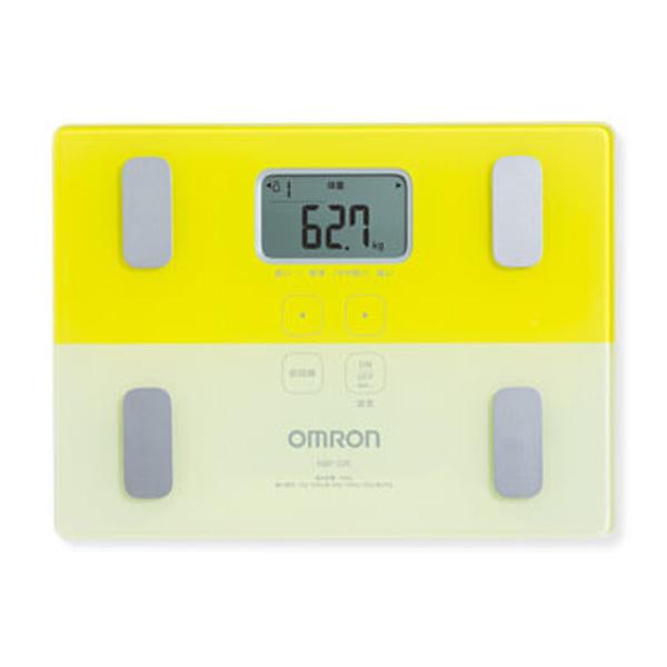 【オムロン】体重体組成計 約幅28.5×奥21×高さ2.8cm イエロー