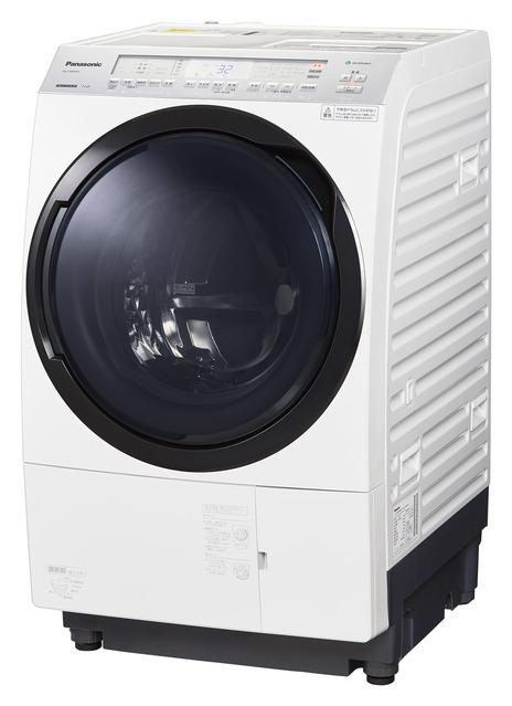 【パナソニック】ドラム式洗濯機 左開き11kg NA-VX800AL-W(クリスタルホワイト)