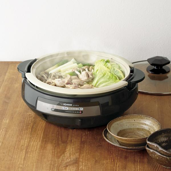 【象印マホービン】土鍋風グリル鍋