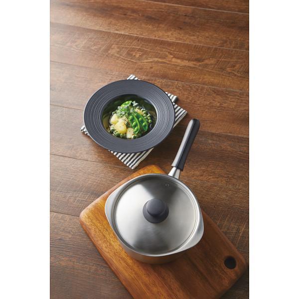 柳宗理 3層鋼片手鍋(18cm・つや消し)蓋付