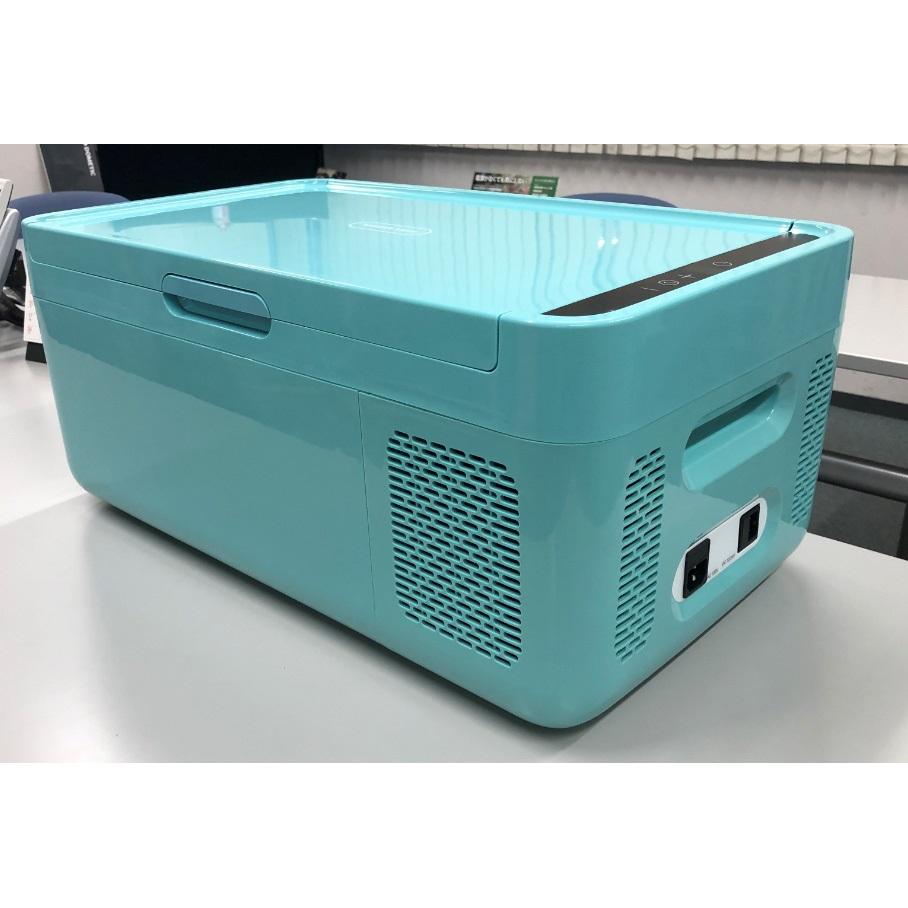 【ドメティック】2電源式コンプレッサー冷凍庫/冷蔵庫 約幅34.4×奥58.7×高さ26.1cm・定格内容積:14.5L ブルー