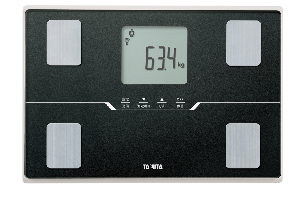 【タニタ】体組成計 約幅31.6×奥21.7×高さ2.7cm メタリックブラック