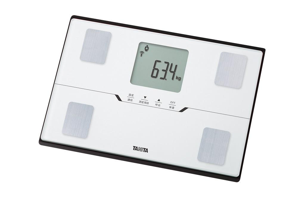 【タニタ】体組成計 約幅31.6×奥21.7×高さ2.7cm パールホワイト
