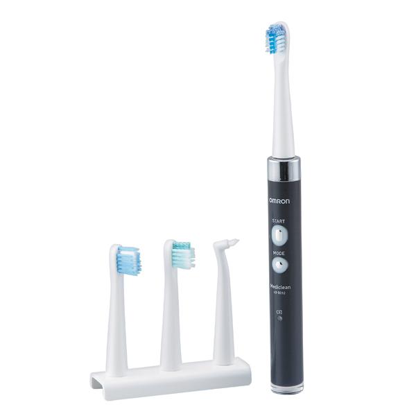 【オムロン】音波式電動歯ブラシ 本体/約径2.1×高さ23cm ブラック