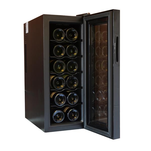【エンプレイス】ワインセラー 約幅25.2×奥50×高さ63.5cm ブラック