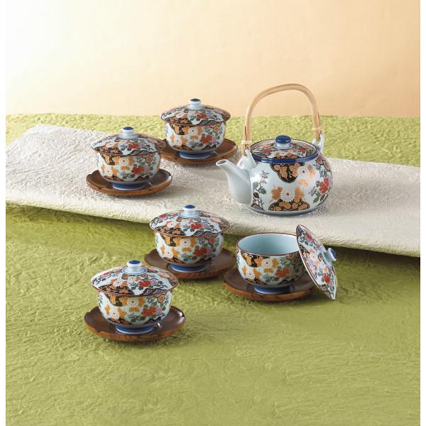 亀甲岩牡丹 茶托付番茶器揃