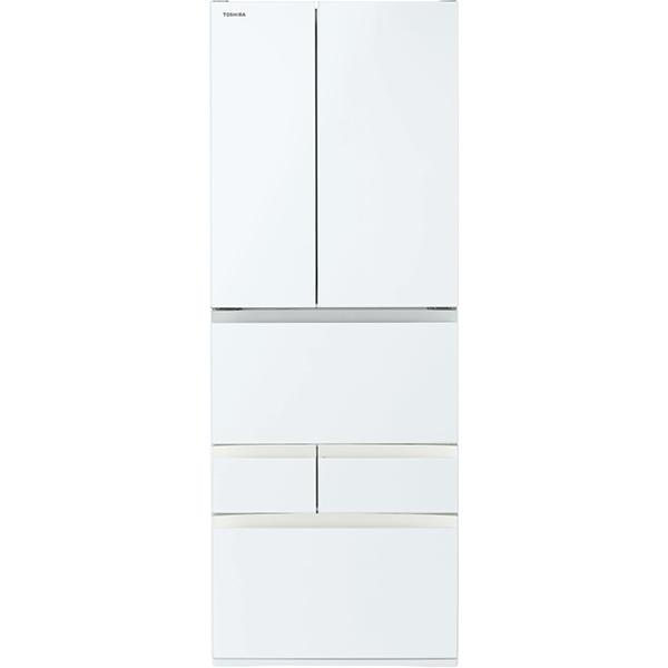 【標準設置工事付】東芝 冷凍冷蔵庫 VEGETA(ベジータ) FHシリーズ 6ドア GR-S550FH(EW)