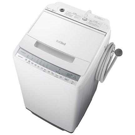 【標準設置工事付】日立 全自動洗濯機 ビートウォッシュ 7kg ホワイト BW-V70F W