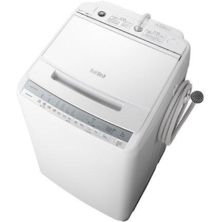 【標準設置工事付】日立 全自動洗濯機 ビートウォッシュ 8kg ホワイト BW-V80F W
