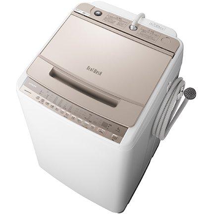 【標準設置工事付】日立 全自動洗濯機 ビートウォッシュ 8kg シャンパン BW-V80F N