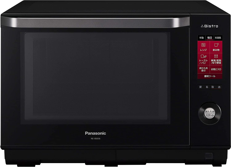 【パナソニック】スチームオーブンレンジ Bistro(ビストロ) 1段調理タイプ 26L ブラック NE-BS656-K