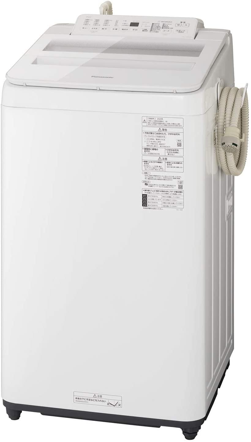 【標準設置工事付】パナソニック 全自動洗濯機 洗濯7kg 泡洗浄 ホワイト NA-FA70H8-W