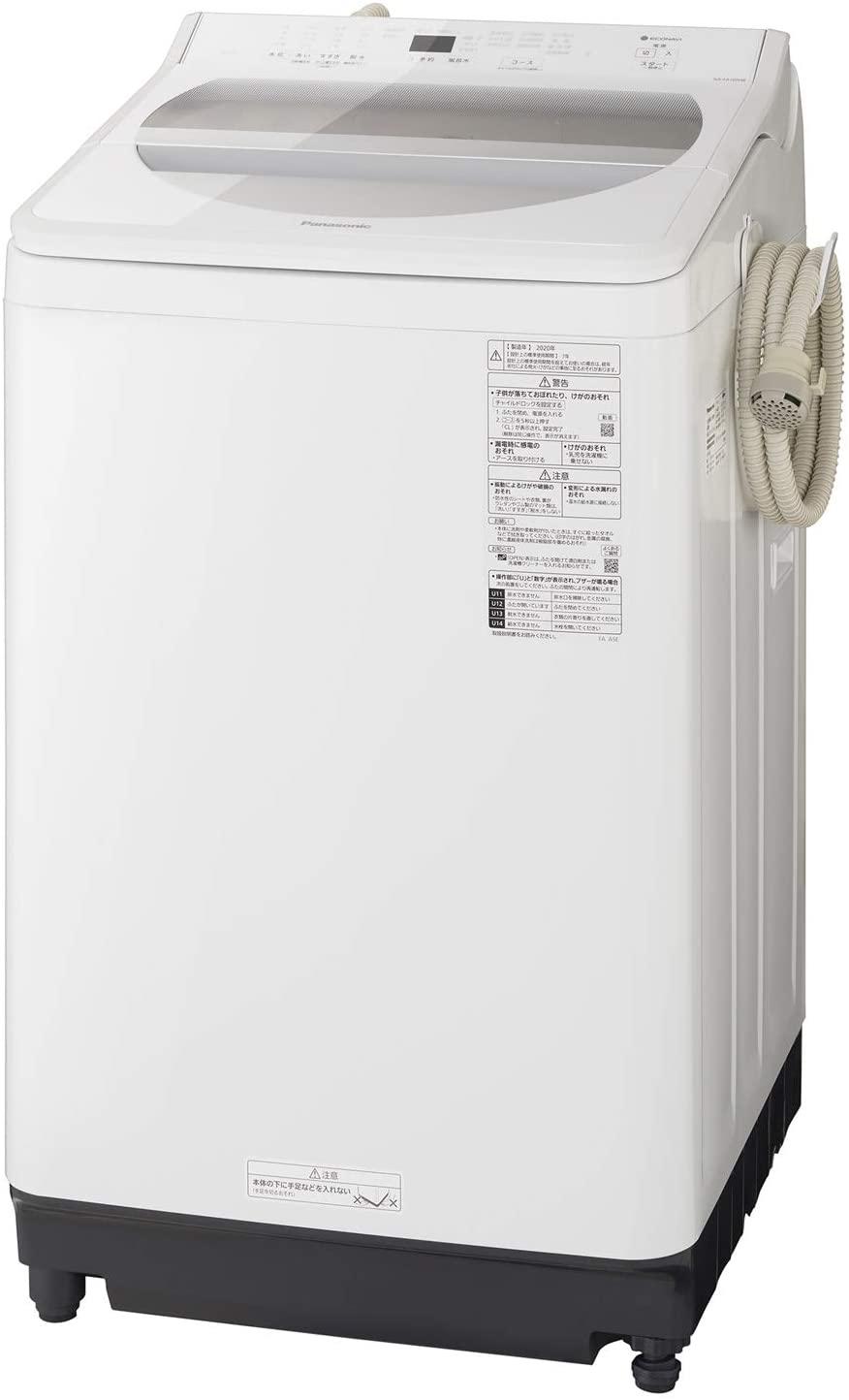 【標準設置工事付】パナソニック 全自動洗濯機 洗濯10kg 泡洗浄 ホワイト NA-FA100H8-W
