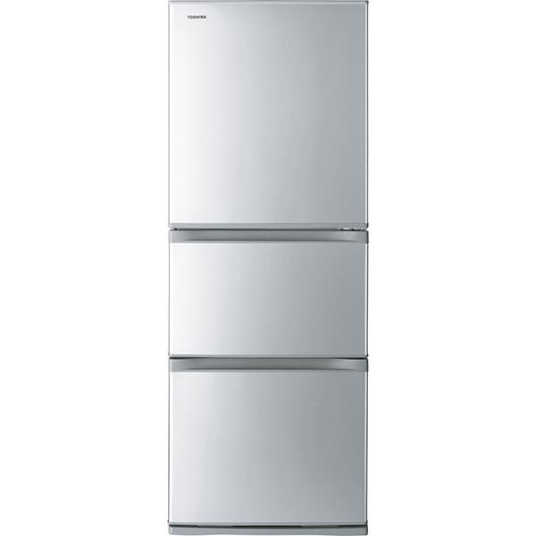 【標準設置工事付】東芝 冷凍冷蔵庫 VEGETA(ベジータ) Sシリーズ 3ドア シルバー GR-S33S(S)