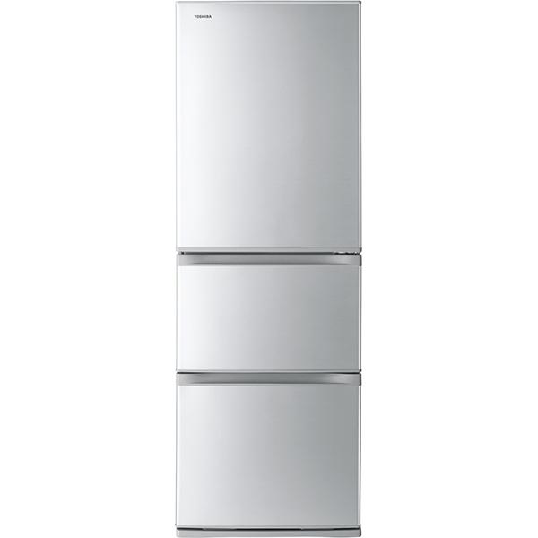 【標準設置工事付】東芝 冷凍冷蔵庫 VEGETA(ベジータ) Sシリーズ 3ドア シルバー GR-S36S(S)