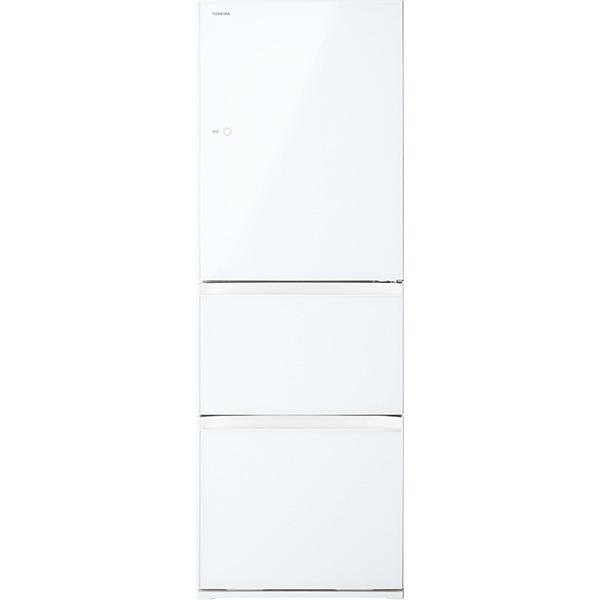 【標準設置工事付】東芝 冷凍冷蔵庫 VEGETA(ベジータ) 3ドア 右開き グランホワイトGR-S36SXV(EW)