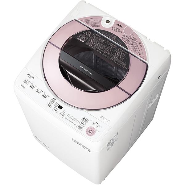 【標準設置工事付】シャープ 全自動洗濯機 7kg ピンク系 ES-GV7E-P