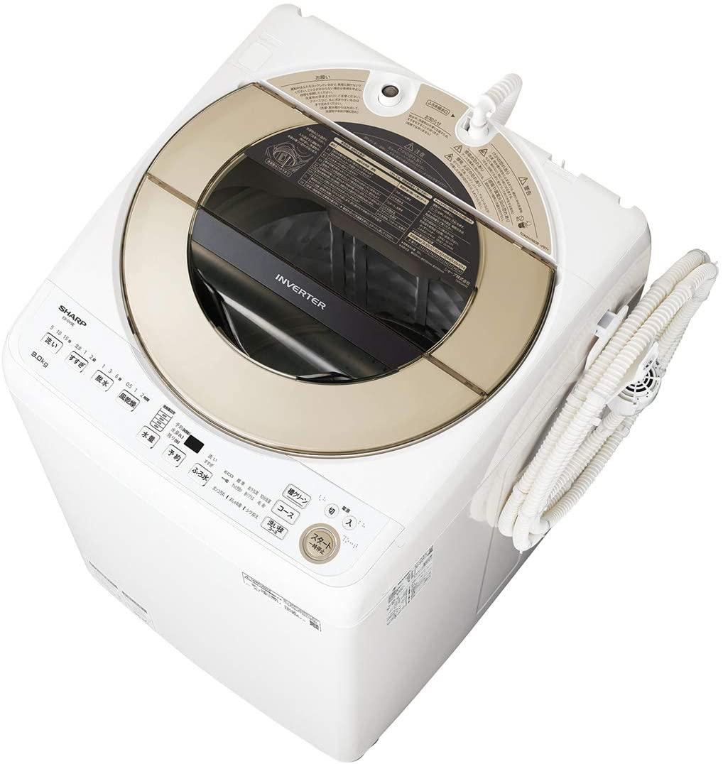 【標準設置工事付】シャープ 全自動洗濯機 9kg ゴールド系 ES-GV9E-N