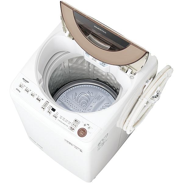 【標準設置工事付】シャープ 全自動洗濯機 10kg ブラウン系 ES-GV10E-T