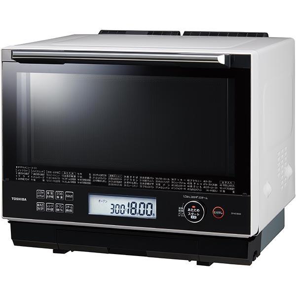 【東芝】過熱水蒸気オーブンレンジ 石窯ドーム スタンダードモデル 30L グランホワイト ER-VD3000(W)