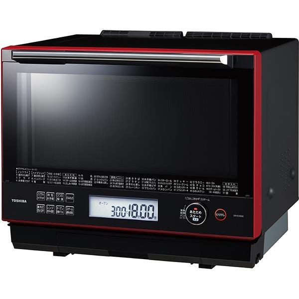 【東芝】過熱水蒸気オーブンレンジ 石窯ドーム スタンダードモデル 30L グランレッド ER-VD3000(R)