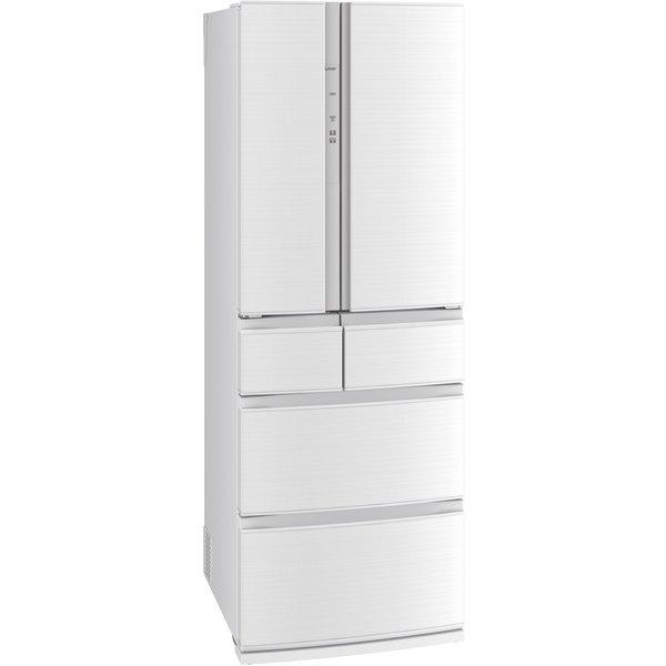 【標準設置工事付】三菱電機 冷蔵庫(462L・フレンチドア) 6ドア クリスタルホワイト MR-R46F-W