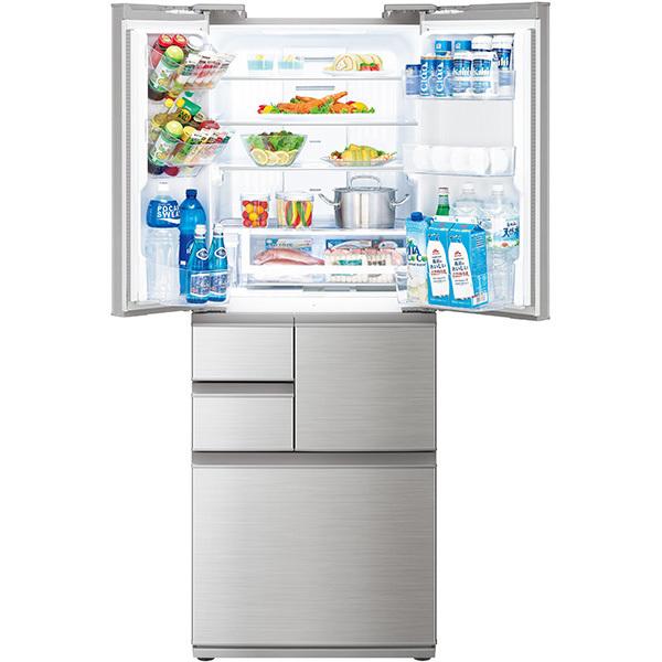 【標準設置工事付】シャープ プラズマクラスター冷蔵庫 (502L・フレンチドア)5ドア シャインシルバーSJ-F502F-S