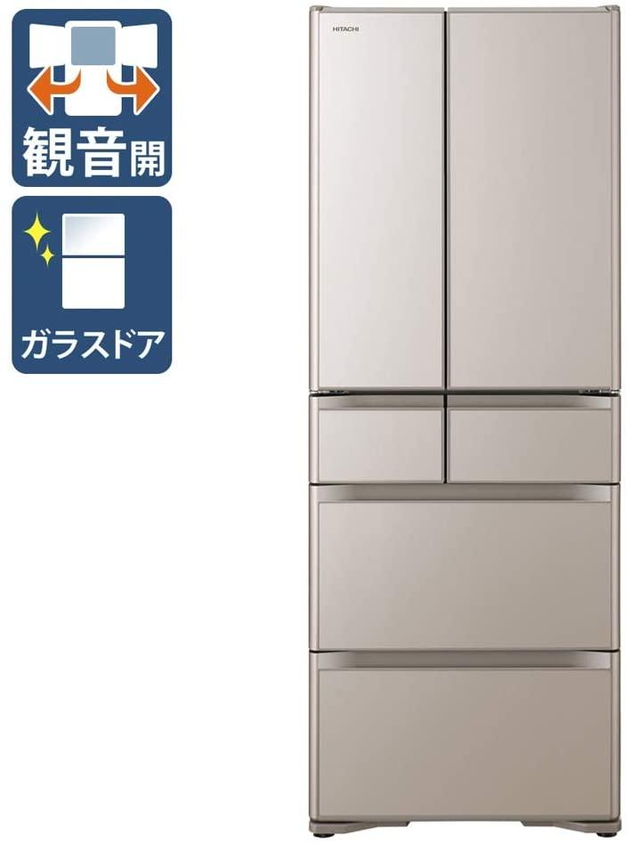 【標準設置工事付】日立 冷蔵庫[6ドア/フレンチドア/505L]R-X51N-XN(クリスタルシャンパン)